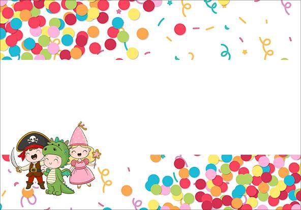 Plaquinha para Comida Modelo 2 Festa Carnaval Infantil