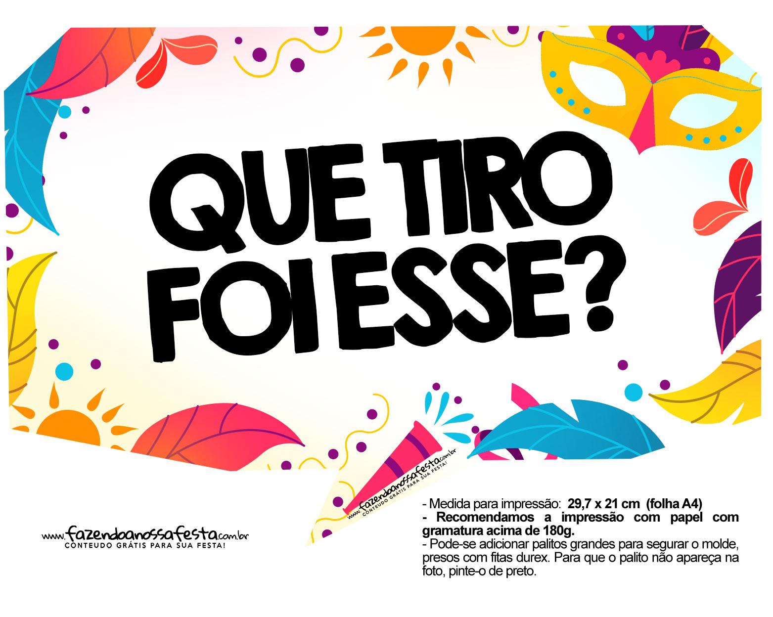 Plaquinhas divertidas de Carnaval gratis 11