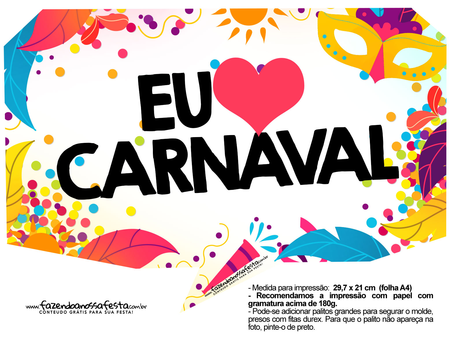 Plaquinhas divertidas de Carnaval gratis 18