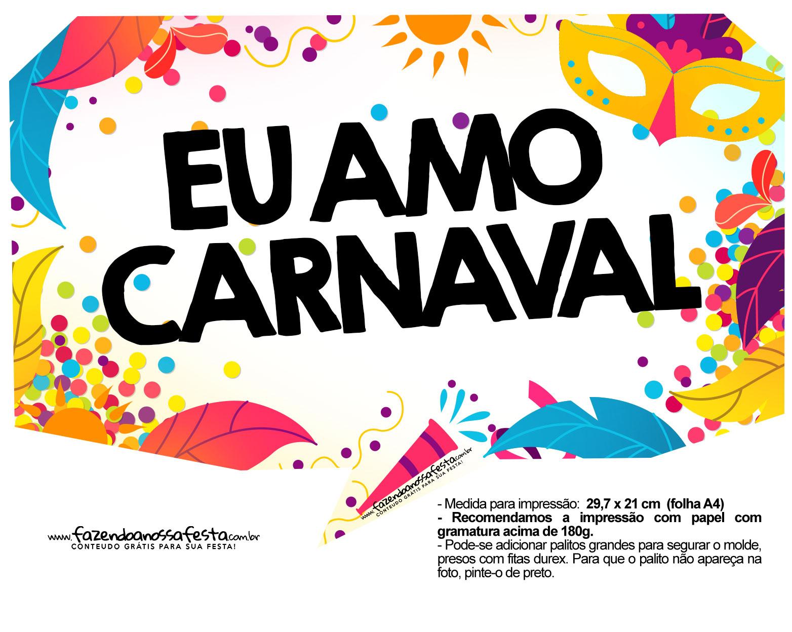 Plaquinhas divertidas de Carnaval gratis 19