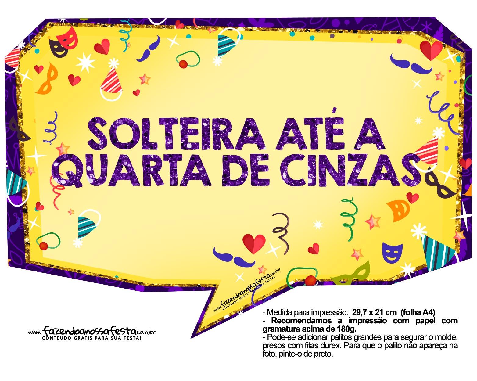 Plaquinhas divertidas de Carnaval gratis 23