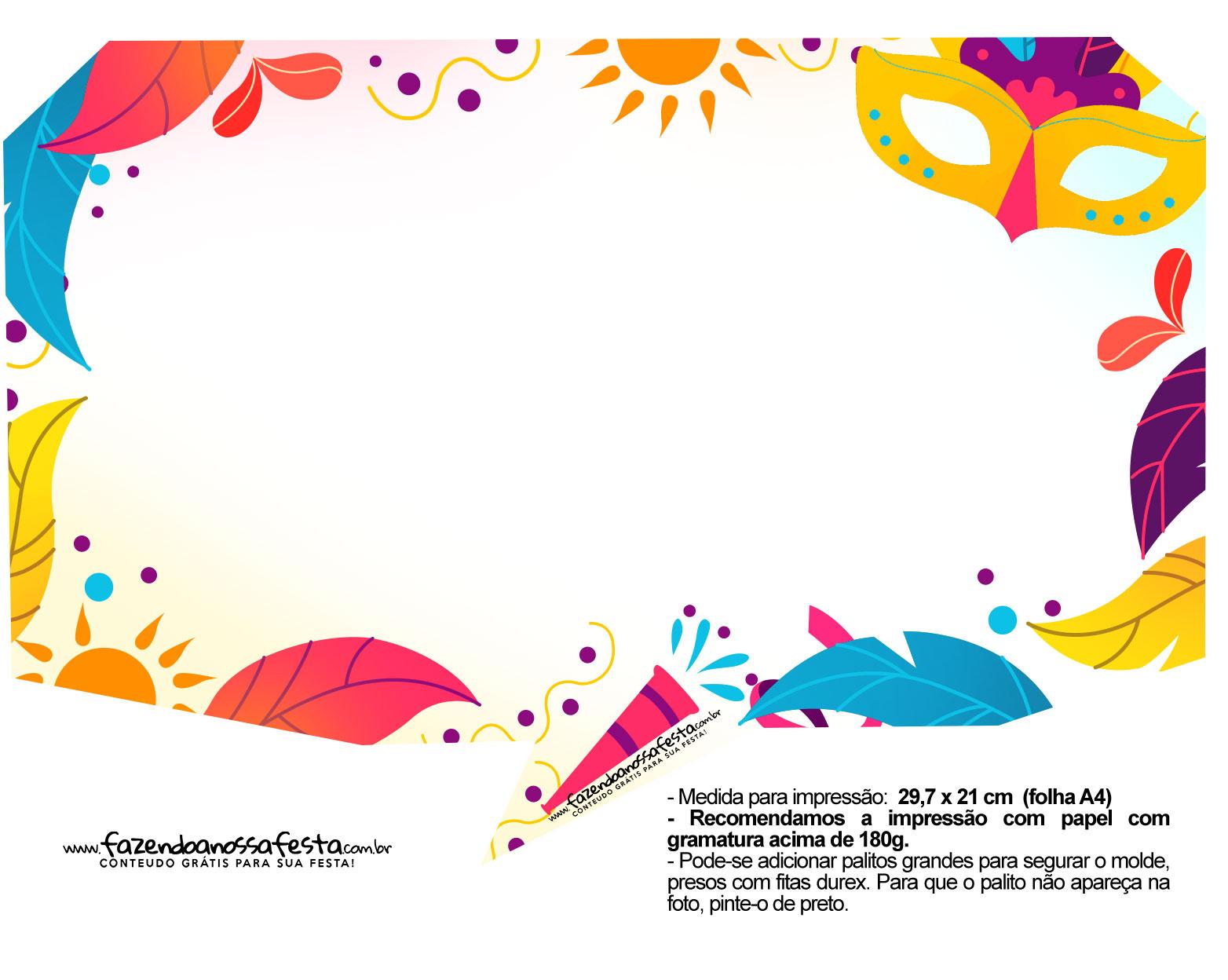 Plaquinhas divertidas de Carnaval gratis 55