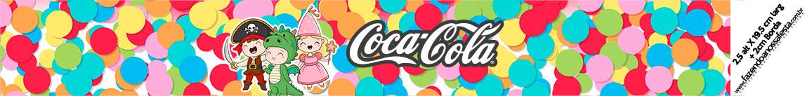 Rotulo Coca cola Festa Carnaval Infantil