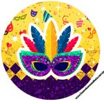 Rotulo Latinhas, Toppers e tubete Carnaval