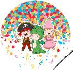 Rotulo Latinhas, Toppers e tubete Festa Carnaval Infantil