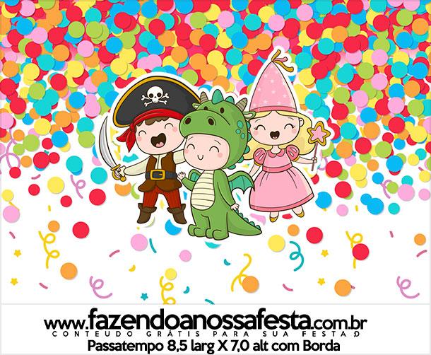 Rotulo Passatempo Festa Carnaval Infantil