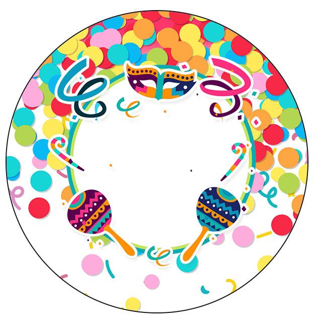 Rotulo Personalizado para latinha e toppers Festa Carnaval Infantil