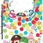 Rotulo Pirulito Festa Carnaval Infantil