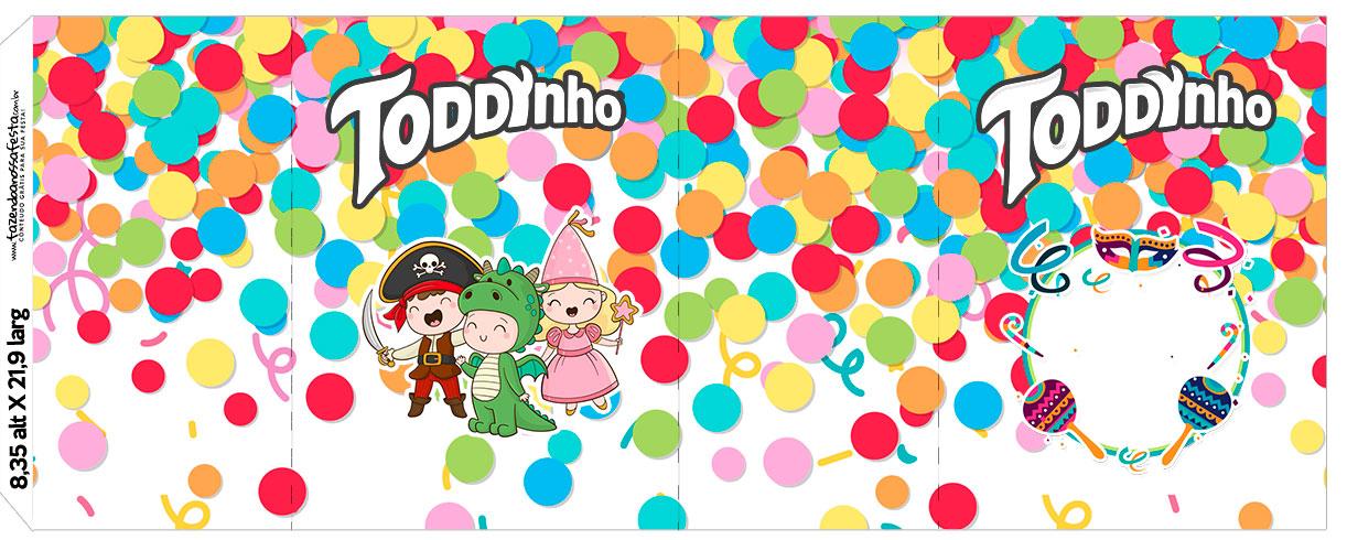 Rotulo Toddynho Festa Carnaval Infantil