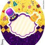 Rotulo Tubete Oval Carnaval