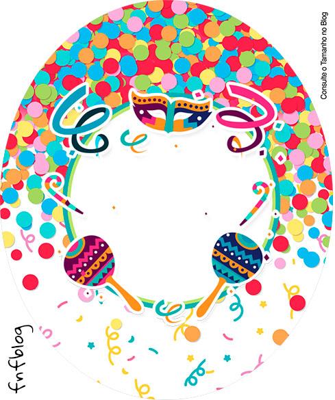 Rotulo Tubete Oval Festa Carnaval Infantil