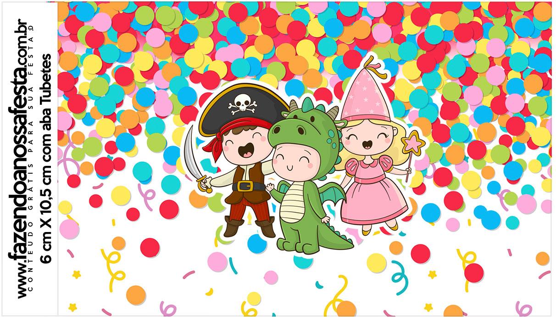 Rotulo Tubetes Festa Carnaval Infantil