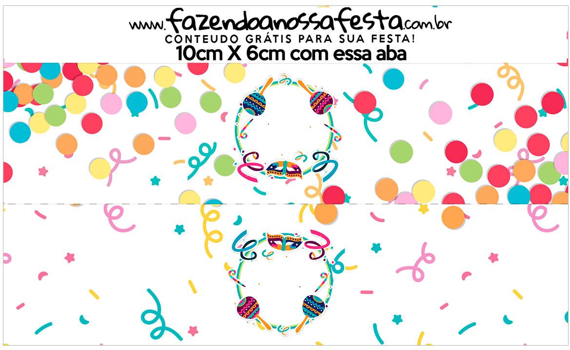Saquinho de balas Kit Festa Bailinho de Carnaval