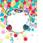 Tag Agradecimento Kit Festa Bailinho de Carnaval