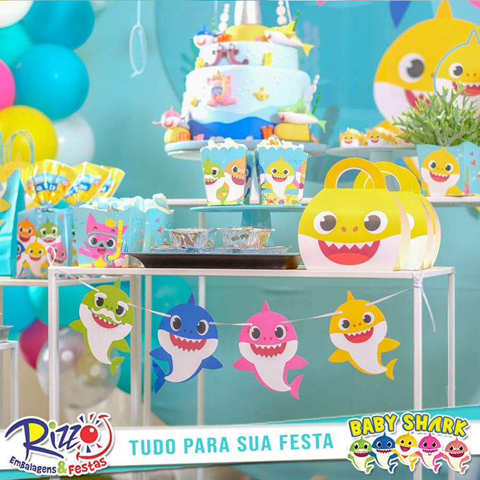 varal decorativo baby shark