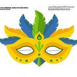 mascara de carnaval amarela infantil
