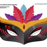 mascaras de carnaval colorida adulto