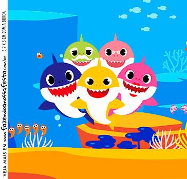 Adesivo Caixa Acrilica Baby Shark