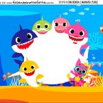 Adesivo Marmitinha Personalizada Baby Shark