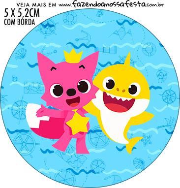 Adesivo para latinhas Baby Shark