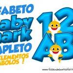 Alfabeto Baby Shark para imprimir