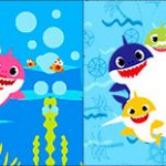 Bandeirinha de Dois Lados Baby Shark