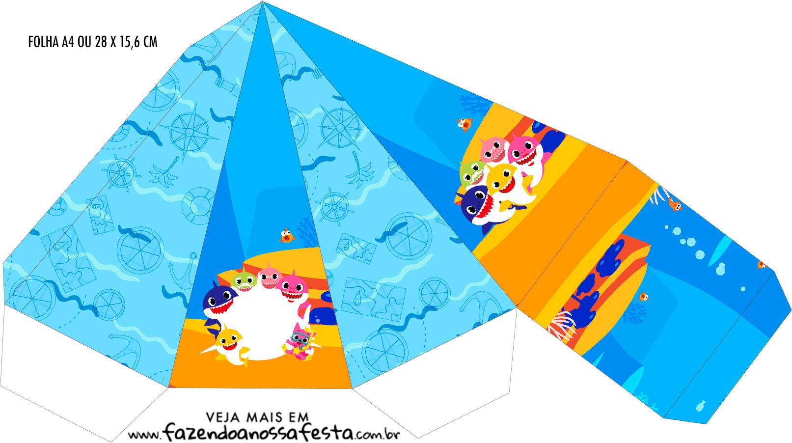 Caixa Piramide Baby Shark