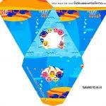 Caixa Piramide Personalizada Baby Shark
