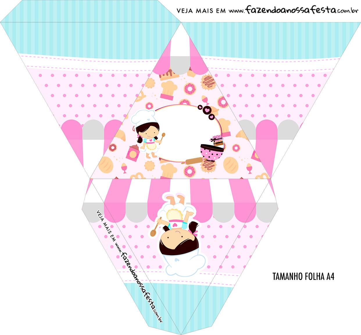 Caixa Piramide Personalizada Festa Confeitaria