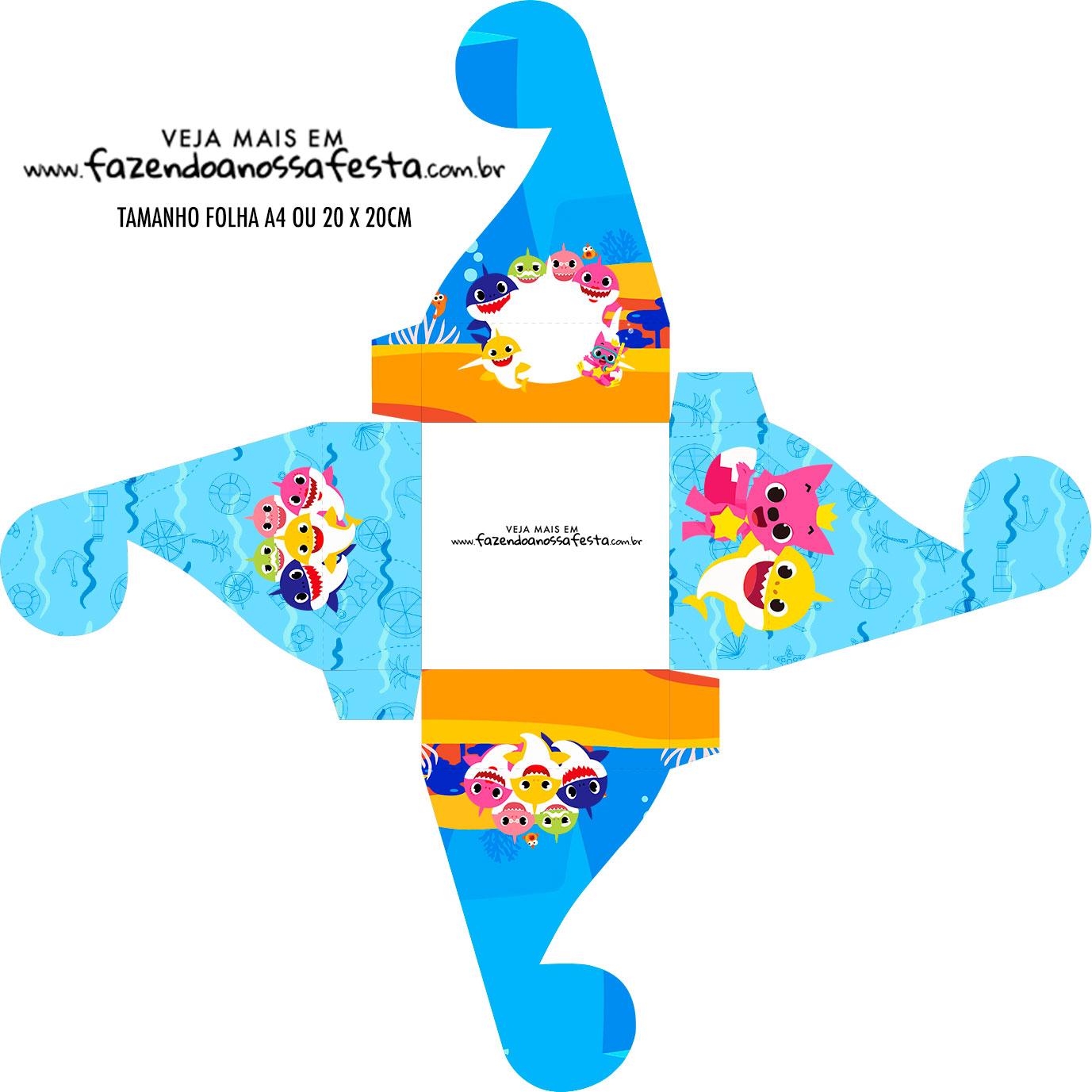 Caixa bombom personalizada Baby Shark
