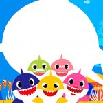 Convite Baby Shark para Imprimir