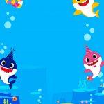 Convite Baby Shark para editar 2