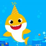 Convite Baby Shark para editar 3