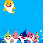 Convite Baby Shark para editar 4