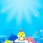 Convite Baby Shark para editar 5