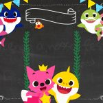 Convite Baby Shark para editar no celular