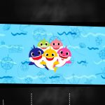 Convite Chalkboard Baby Shark 5