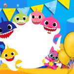 Convite aniversario Baby Shark