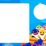 Convite para festa infantil Baby Shark