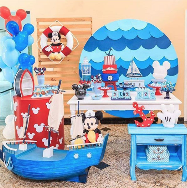 Ideia Painel Festa Mickey Marinheiro 10
