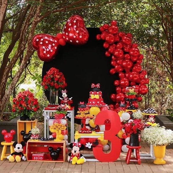 Ideia Painel Festa Minnie Vermelha 22