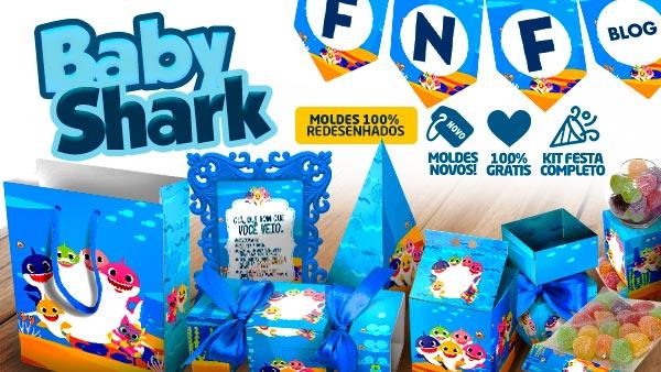 Kit Festa Baby Shark Gratis