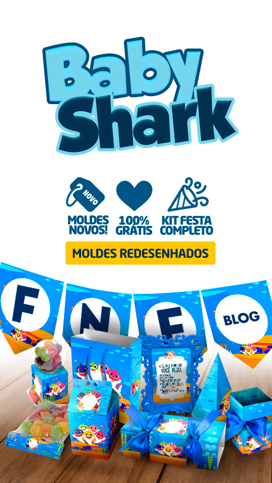 Kit Festa Baby Shark Moldes gratuitos