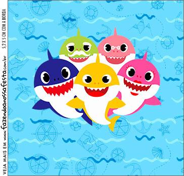 Molde Caixa Acrilica Baby Shark
