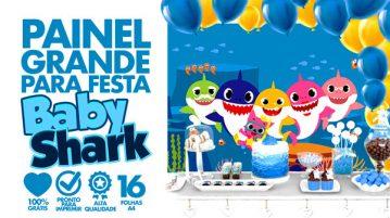 Painel Festa Baby Shark
