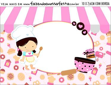 Plaquinha de Comida Kit Festa Confeitaria