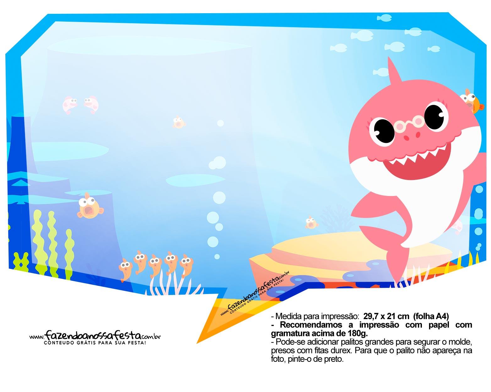 Plaquinhas Baby Shark 35
