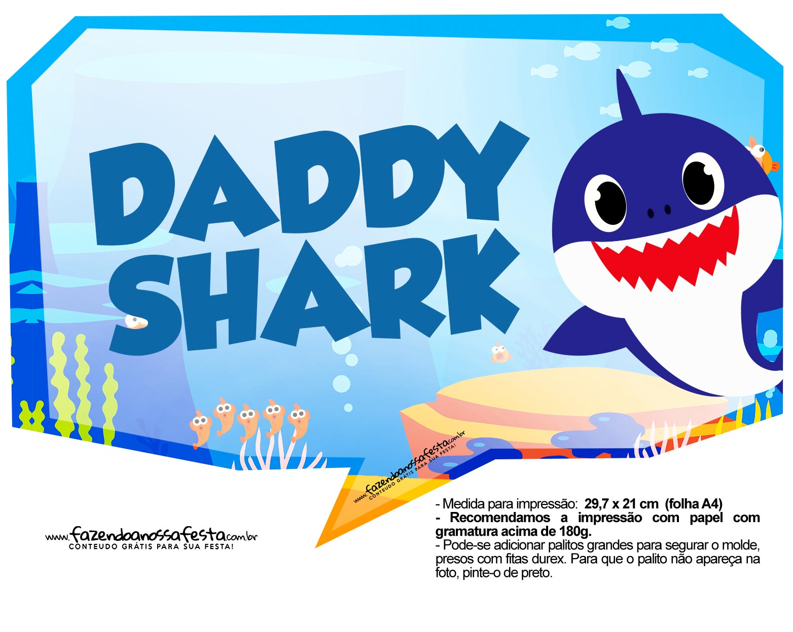 Plaquinhas Baby Shark 38