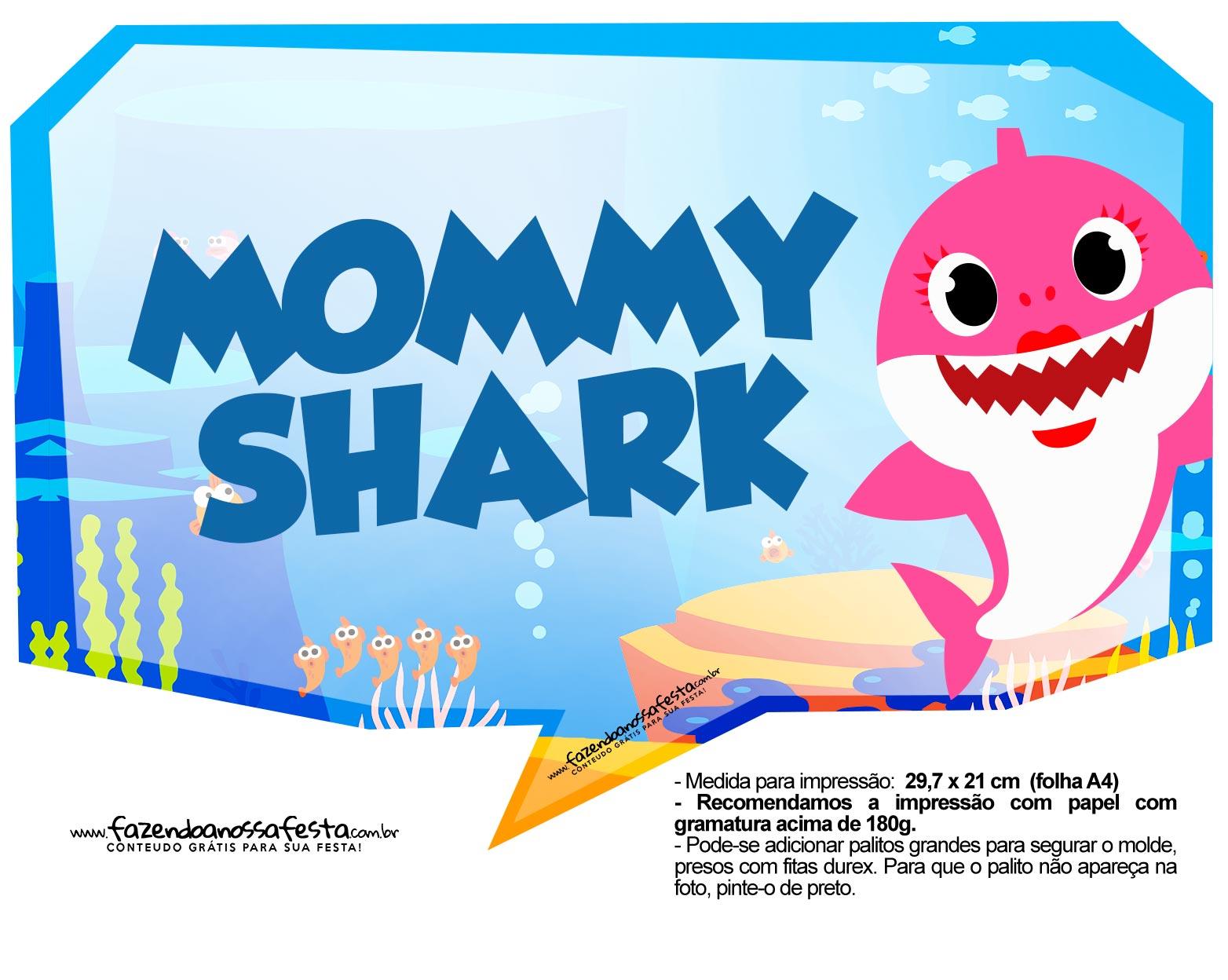 Plaquinhas Baby Shark 39