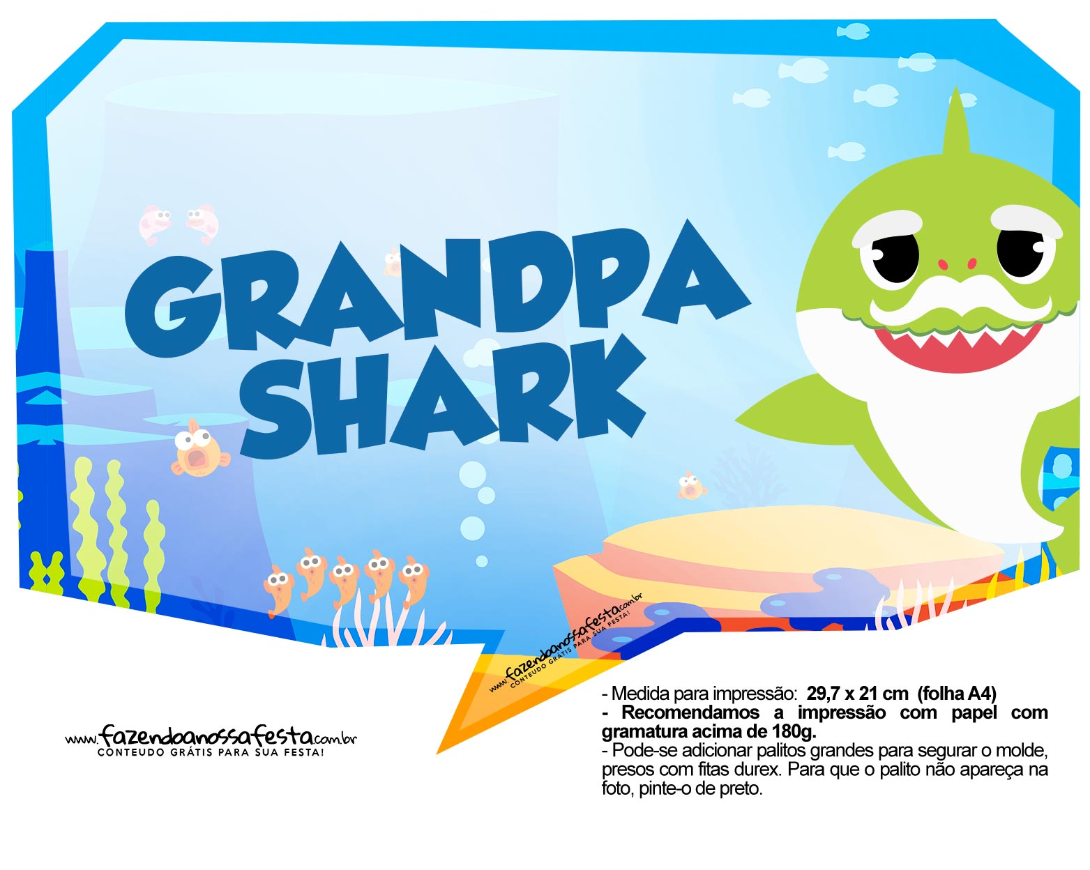 Plaquinhas Baby Shark 40